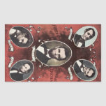 Portraits of Abraham Lincoln Vintage Rectangular Sticker
