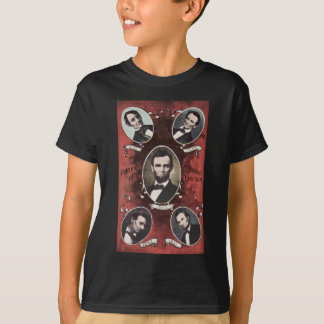 Portraits of Abraham Lincoln Vintage T-Shirt