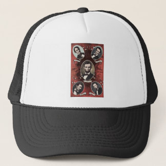 Portraits of Abraham Lincoln Vintage Trucker Hat