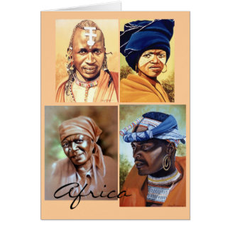 Portraits of Africa Card