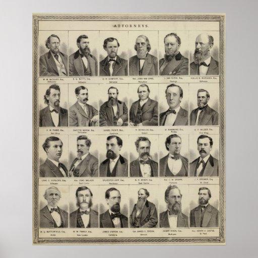 Portraits of Attorneys, Minnesota Poster