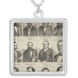 Portraits of Attorneys, Minnesota Silver Plated Necklace