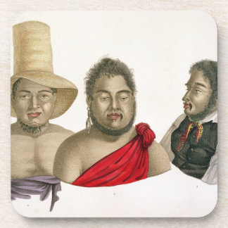 Portraits of chiefs of the Sandwich Islands, from Coaster