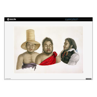 Portraits of chiefs of the Sandwich Islands, from Laptop Skins