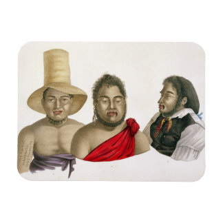 Portraits of chiefs of the Sandwich Islands, from Magnet