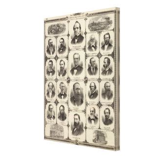 Portraits of Citizens of Cedar Rapids Canvas Print