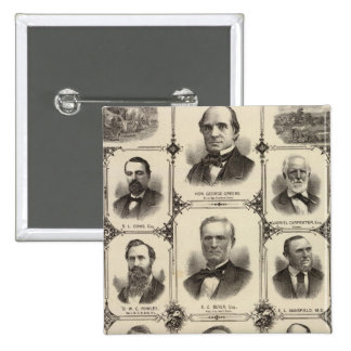 Portraits of Citizens of Cedar Rapids Pinback Button