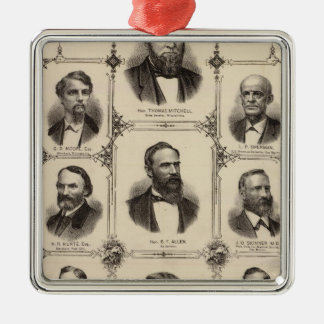 Portraits of Citizens of Polk County Metal Ornament