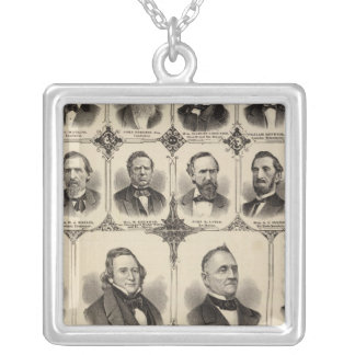 Portraits of Citizens of Scott County Silver Plated Necklace