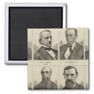Portraits of Early Settlers of Minnesota 2 Inch Square Magnet