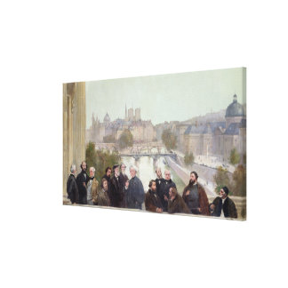 Portraits of French artists and authors Canvas Print