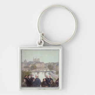 Portraits of French artists and authors Keychain