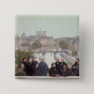 Portraits of French artists and authors Pinback Button