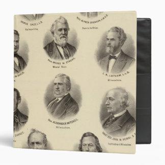 Portraits of George Gale, Alfred Brunson 3 Ring Binder