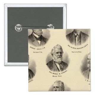 Portraits of George Gale, Alfred Brunson Pinback Button
