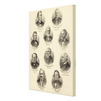 Portraits of George Gale, Alfred Brunson Canvas Prints