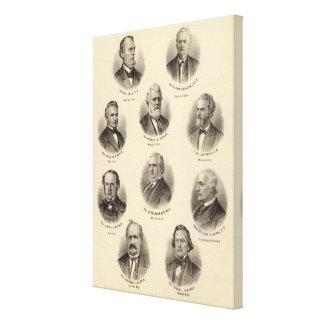 Portraits of George Gale, Alfred Brunson Canvas Print