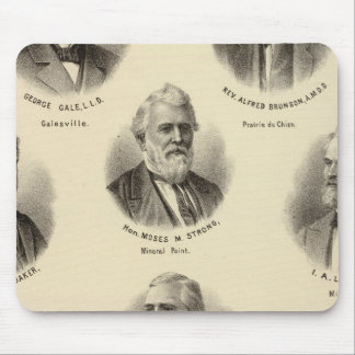 Portraits of George Gale, Alfred Brunson Mouse Pad