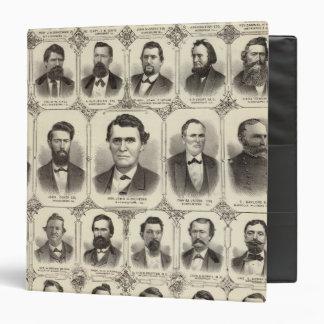 Portraits of John C Hall and Prof JW Bradshaw Binder