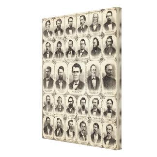 Portraits of John C Hall and Prof JW Bradshaw Canvas Print