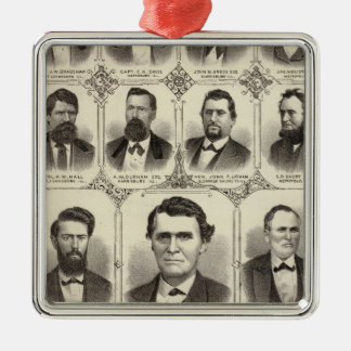Portraits of John C Hall and Prof JW Bradshaw Christmas Ornament