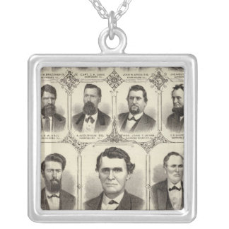 Portraits of John C Hall and Prof JW Bradshaw Silver Plated Necklace