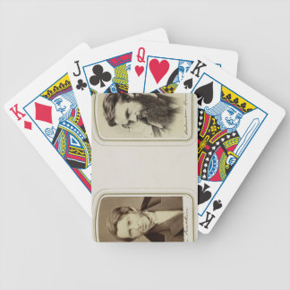 Portraits of John Ruskin (1819-1900) and William H Bicycle Playing Cards