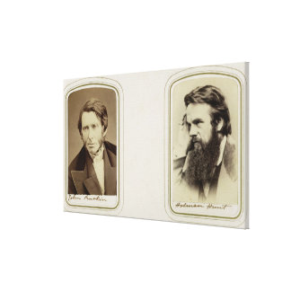 Portraits of John Ruskin (1819-1900) and William H Canvas Print