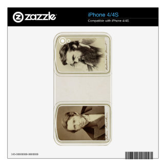 Portraits of John Ruskin (1819-1900) and William H Decal For The iPhone 4S