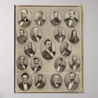 Portraits of John S Bender, Ancil B Ball Posters