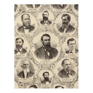 Portraits of LW Tubbs, John Chaney, CH Lane Postcard