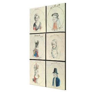 Portraits of Mary I  Edward IV Canvas Print