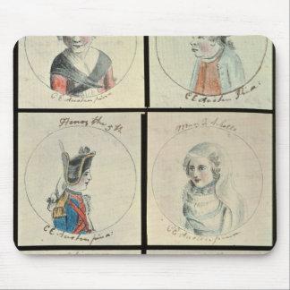 Portraits of Mary I  Edward IV Mouse Pad