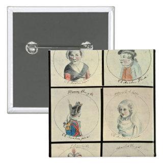 Portraits of Mary I  Edward IV Pinback Button
