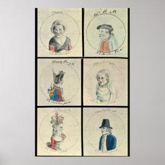 Portraits of Mary I  Edward IV Poster