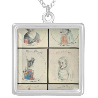 Portraits of Mary I  Edward IV Silver Plated Necklace
