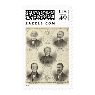 Portraits of men of the New Jersey coast Postage