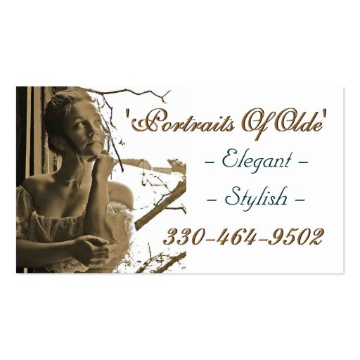 Portraits Of Olde Sample1 Double-Sided Standard Business Cards (Pack Of 100)