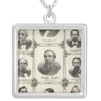 Portraits of Orval Pool, J McKee Peeples Silver Plated Necklace
