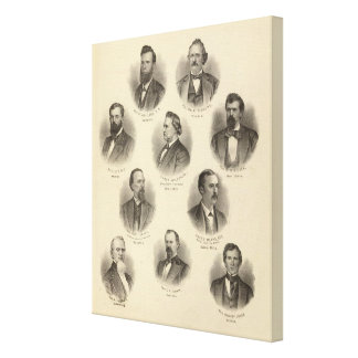 Portraits of Rev H Gilliland, Wm F Terhune Canvas Print
