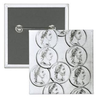 Portraits of Roman Emperors Pins