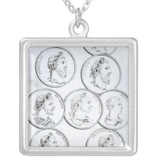 Portraits of Roman Emperors Silver Plated Necklace