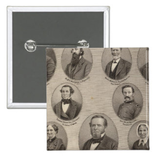 Portraits of Saml Hanna, Peter Heller 2 Inch Square Button