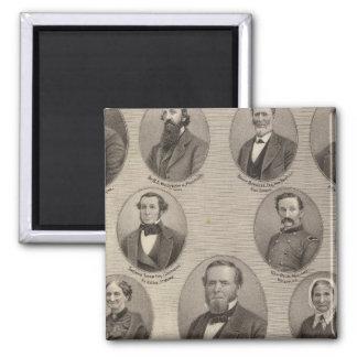 Portraits of Saml Hanna, Peter Heller 2 Inch Square Magnet