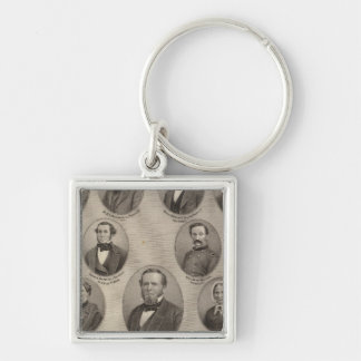 Portraits of Saml Hanna, Peter Heller Silver-Colored Square Keychain
