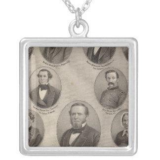 Portraits of Saml Hanna, Peter Heller Square Pendant Necklace