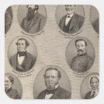 Portraits of Saml Hanna, Peter Heller Square Sticker