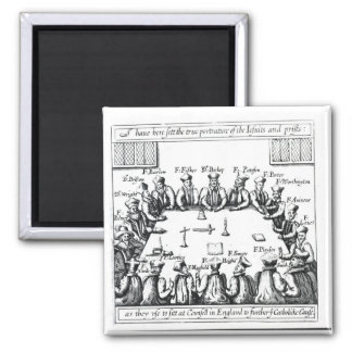 Portraits of the Jesuits and Priests 2 Inch Square Magnet