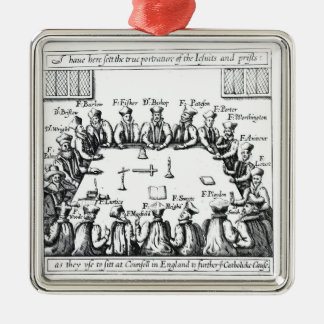 Portraits of the Jesuits and Priests Metal Ornament