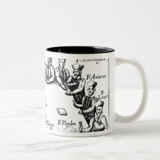 Portraits of the Jesuits and Priests Two-Tone Coffee Mug